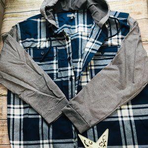 Men's Flannel Work hoodie size XL - Z-09
